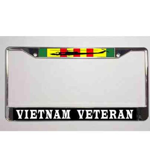 vietnam veteran ribbon huey license plate frame