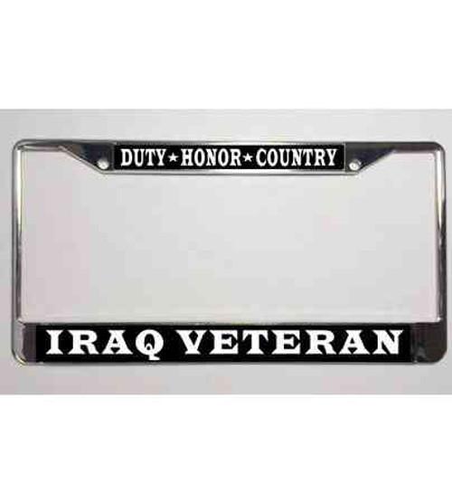 iraq veteran dutyhonorcountry license plate frame