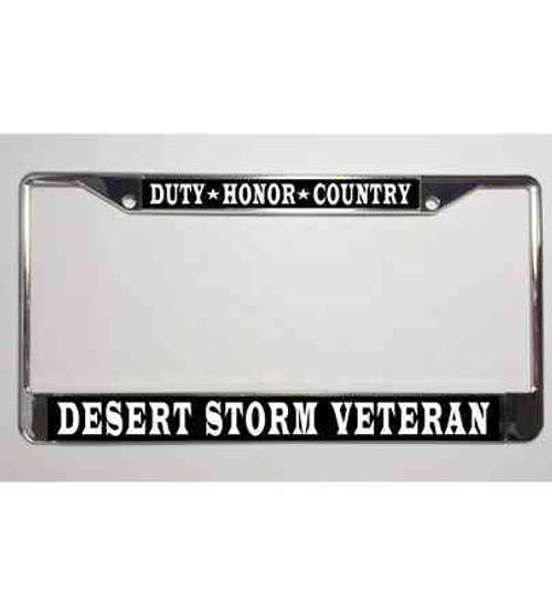 desert storm veteran dutyhonorcountry license plate frame