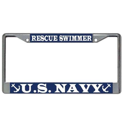 navy rescue swimmer license plate frame