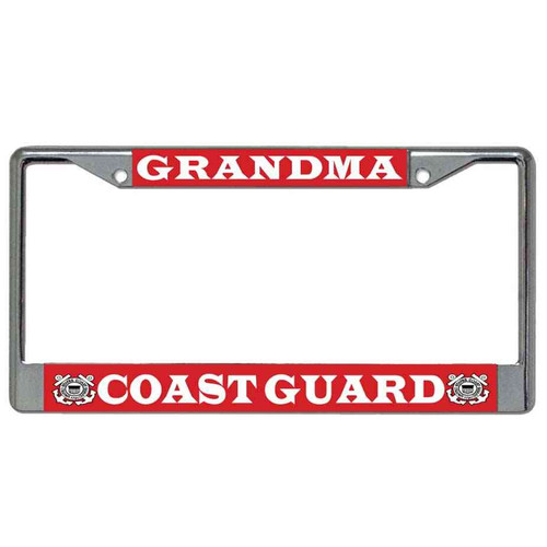 coast guard grandma license plate frame