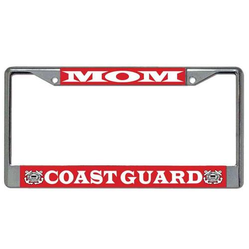 coast guard mom license plate frame