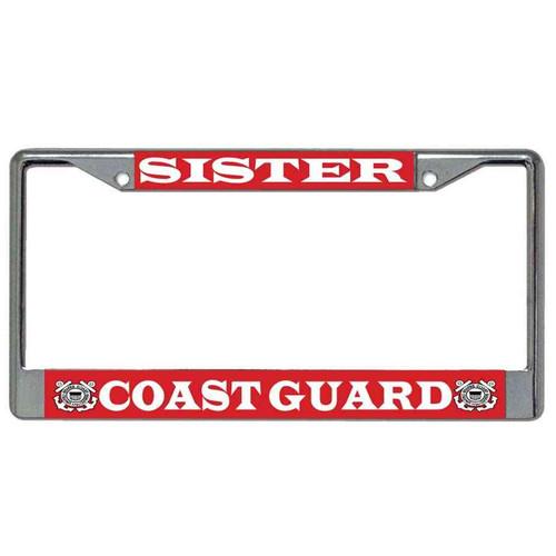 coast guard sister license plate frame