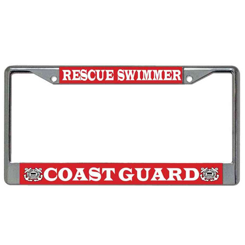 coast guard rescue swimmer license plate frame