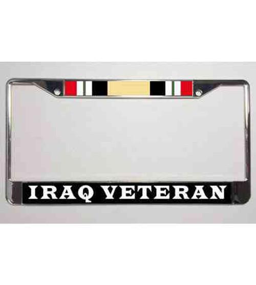 iraq veteran license plate frame campaign ribbon