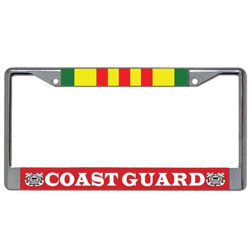 coast guard vietnam veteran license plate frame