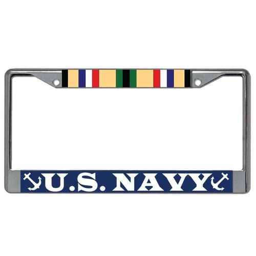 us navy desert storm veteran license plate frame