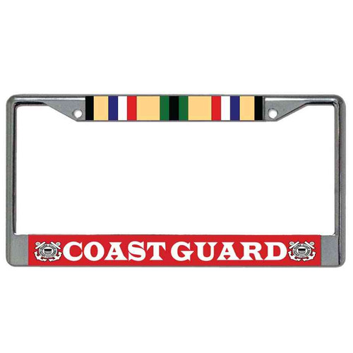 coast guard desert storm veteran license plate frame