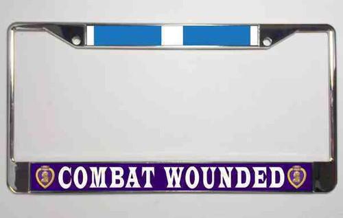 korean war purple heart veteran license plate frame