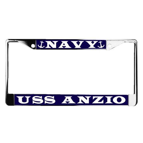 uss anzio license plate frame