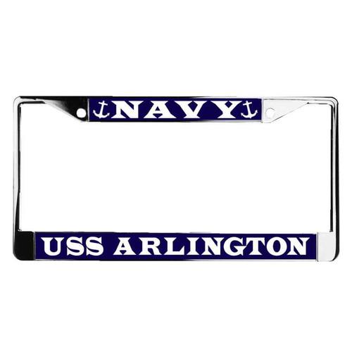 uss arlington license plate frame