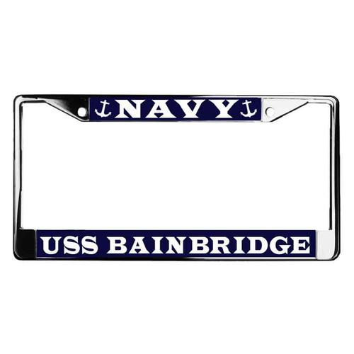 uss bainbridge license plate frame