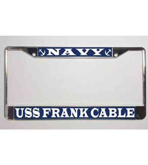 uss frank cable license plate frame