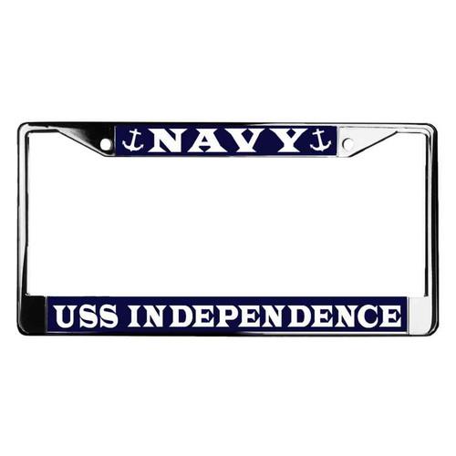 uss independence license plate frame