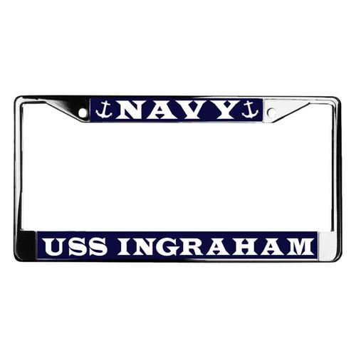 uss ingraham license plate frame