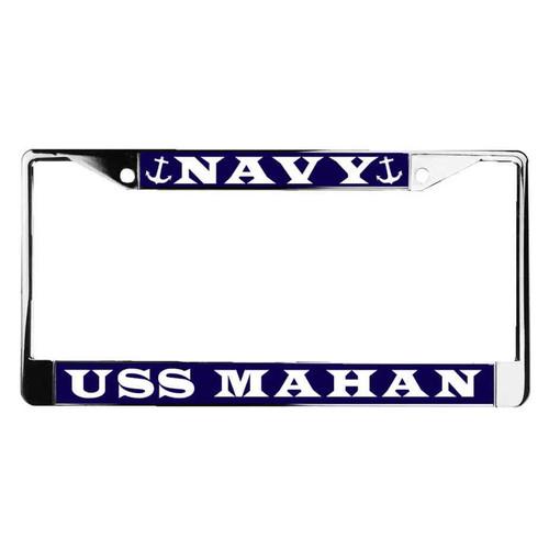 uss mahan license plate frame