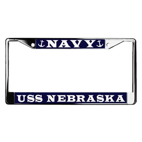 uss nebraska license plate frame