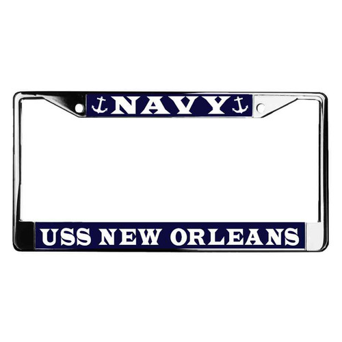 uss new orleans license plate frame