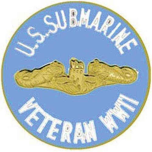 navy submarine vet hat lapel pin