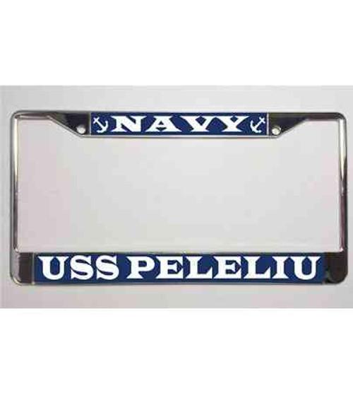 uss peleliu license plate frame