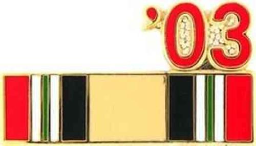 2003 iraq campaign ribbon hat lapel pin