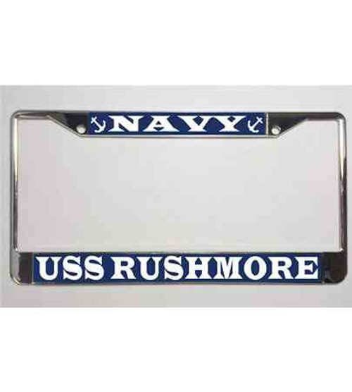 uss rushmore license plate frame