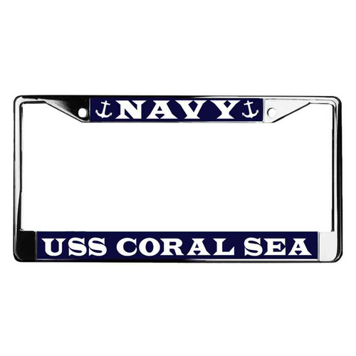 uss coral sea license plate frame