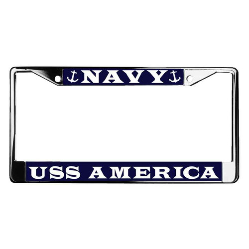 uss america license plate frame