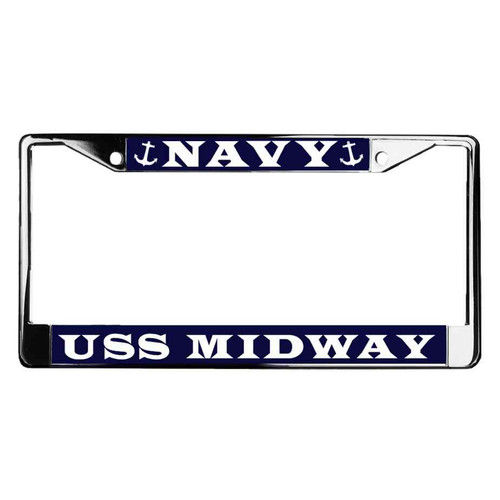 uss midway license plate frame