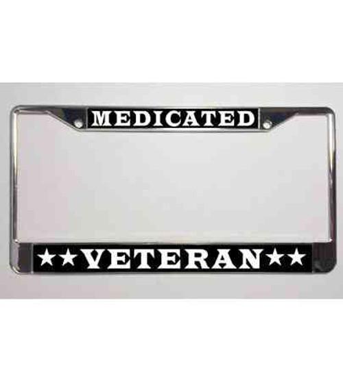 medicated veteran license plate frame
