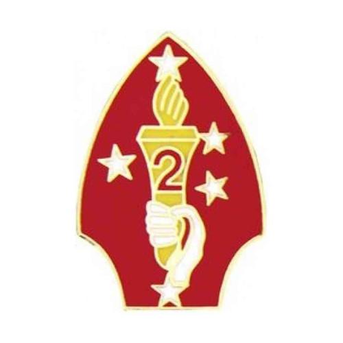 usmc 2nd marine div hat lapel pin