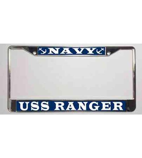 uss ranger license plate frame