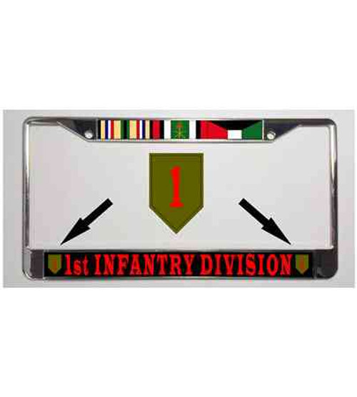 army 1st infantry division gulf war ribbon license plate frame