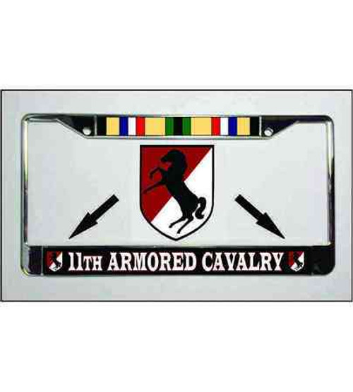army 11th armored cavalry desert storm ribbon license plate frame