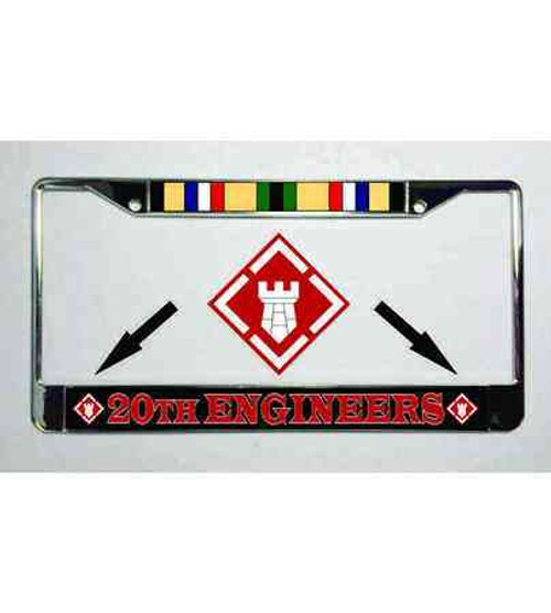 army 20th engineers desert storm ribbon license plate frame
