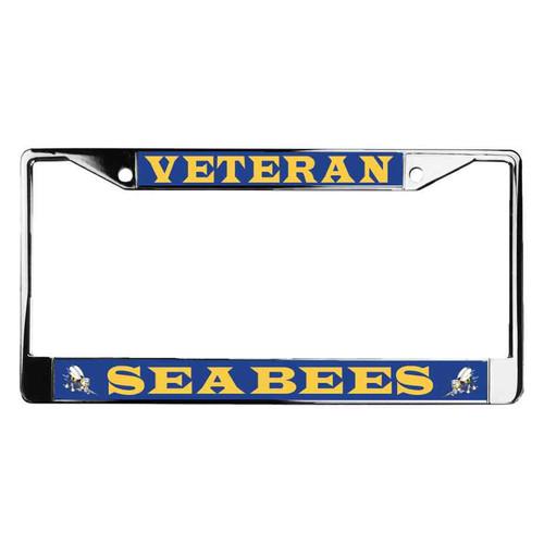 navy seabees veteran license plate frame