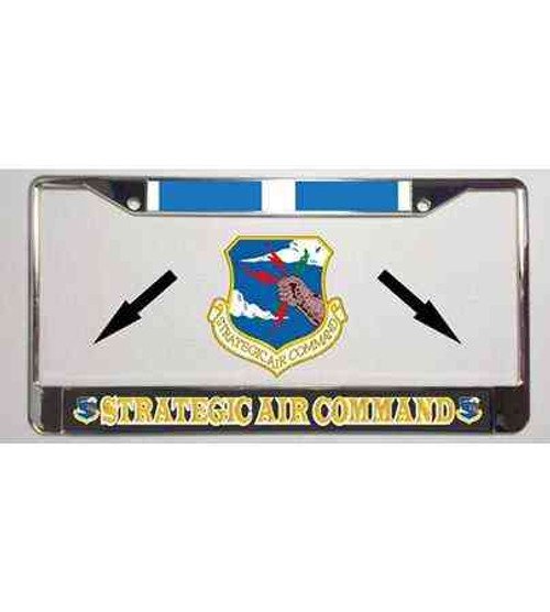 air force strategic air command korea ribbon license plate frame