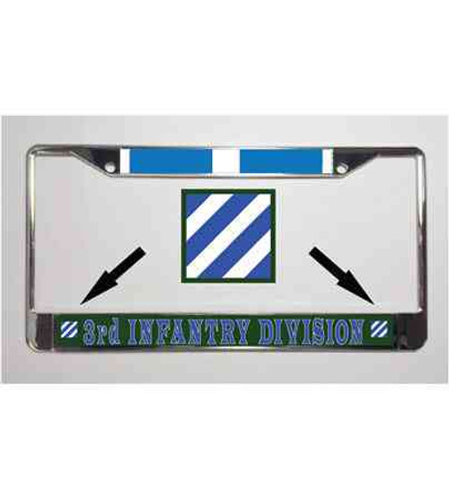 army 3rd infantry korean war license plate frame