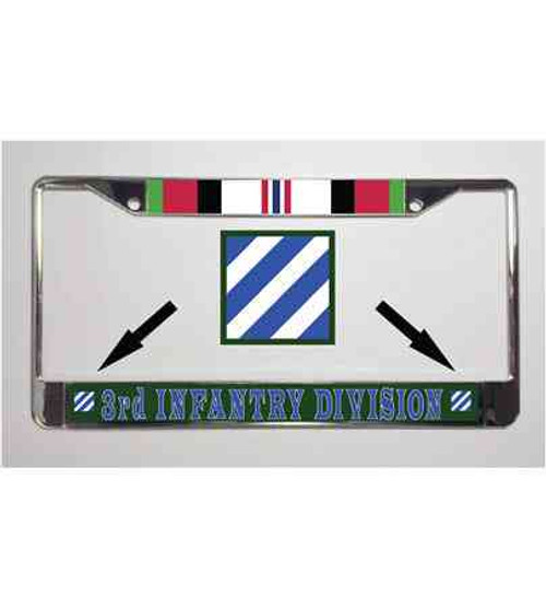 army 3rd infantry operation enduring freedom license plate frame
