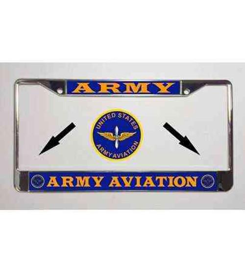 u s army aviation license plate frame