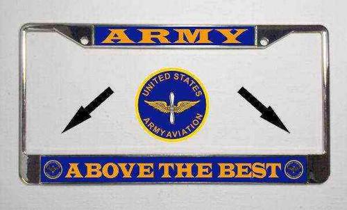 u s army aviation motto license plate frame