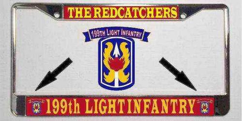 army 199th light infantry nickname license plate frame