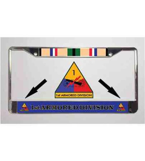 1st armored division desert storm license plate frame