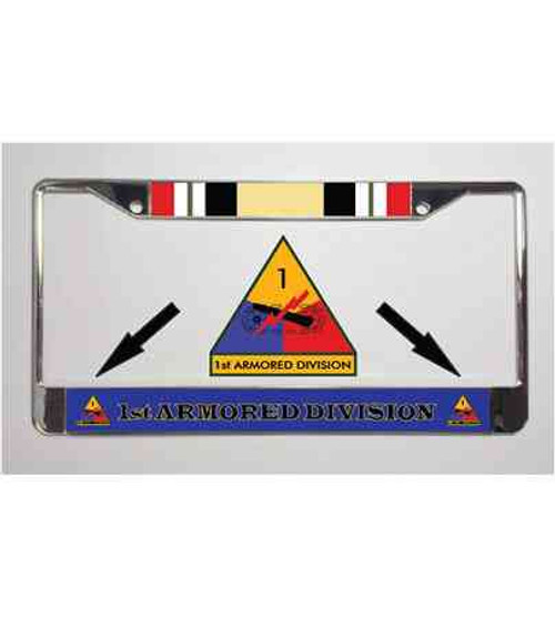 1st armored division iraq war license plate frame