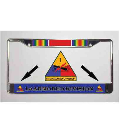1st armored division world war ii license plate frame