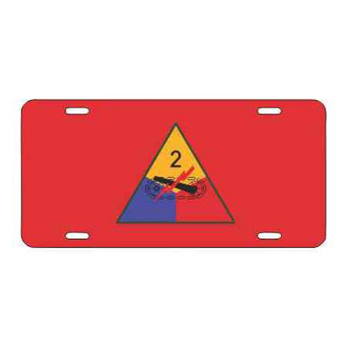 army 2nd armored division red license plate