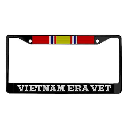vietnam era veteran national defense ribbon powder coated license plate frame