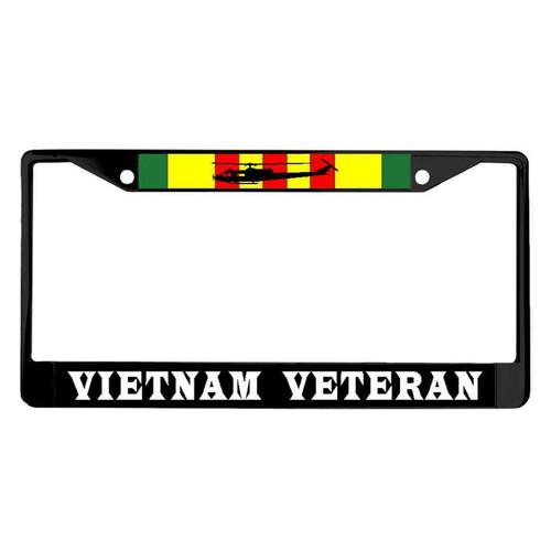vietnam veteran ribbon huey powder coated license plate frame