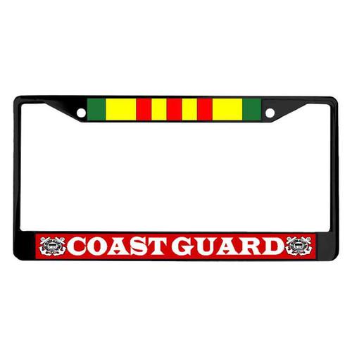 coast guard vietnam veteran powder coated license plate frame