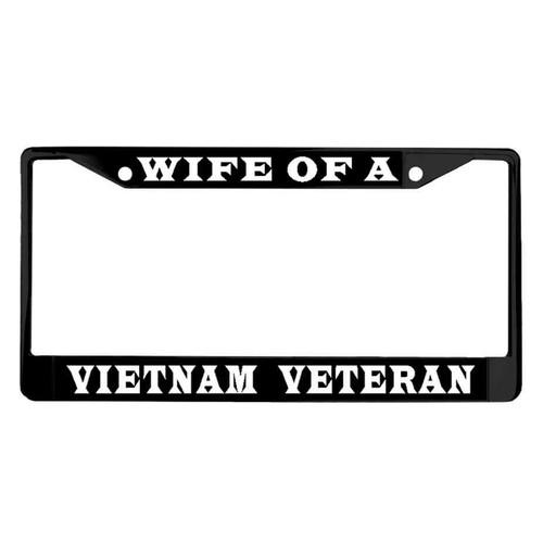 wife a vietnam veteran powder coated license plate frame